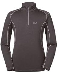 Jack Wolfskin camiseta de Lana Merino Long. Para hombre. Interior. Ligero y cálido., hombre, color  - gris oscuro, tamaño XXL