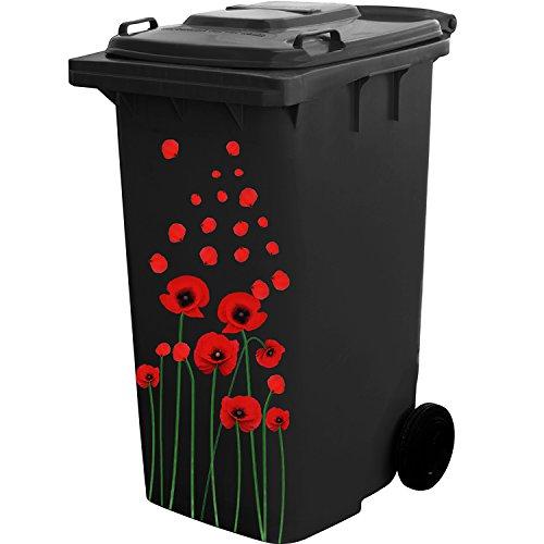 *Selbstklebendes Blumen Aufkleber Kit für Mülltonne Wheelie Behälter und Haus Dekoration*
