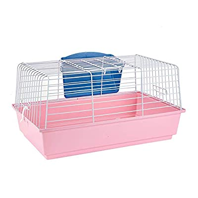 Pet Ting Pink Rabbit Guinea Pig Indoor Cage Hutch 60cm - Includes Hay Rack from Pet Ting