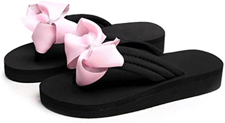 MUMA Zapatos de tacón Zapatillas Playa Zapatillas Sandalias Zapatos Mujer Verano Piso Inferior Plataforma antideslizante...