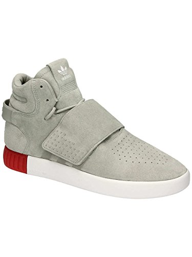 adidas Tubular Invader Strap, Baskets Montantes Mixte Adulte Gris