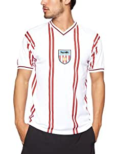 Score Draw Official Retro Sunderland Mens 1982 shirt - Small, Red And White