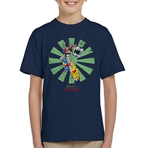 Cloud City 7 Voltron Lion Force Retro Japanese Kid's T-Shirt (Voltron Lion Force)