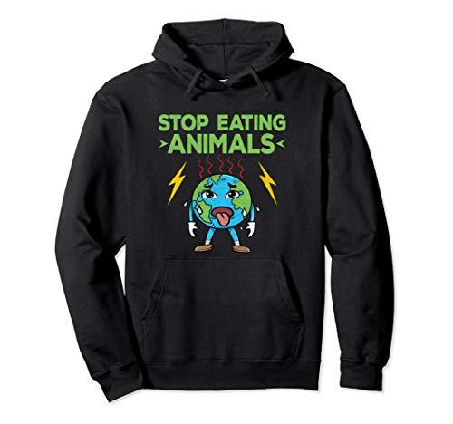 Klimaschützer Fridays Anti Fleisch Vegan Veganer Geschenk Pullover Hoodie -