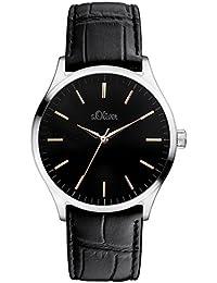 s.Oliver Herren-Armbanduhr XL Analog Quarz Leder SO-3052-LQ