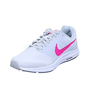 Nike Damen Downshifter 7 Laufschuhe, Mehrfarbig (White/Hyper Pink/Pure Platinum/Black), 39 EU