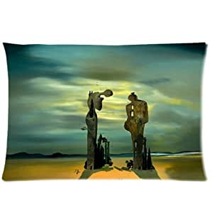 """Personalized classic salvador dali painting pattern soft Satin pillowcase,Zipper pillow cases 20""""(W)x30""""(L) twin sides"""