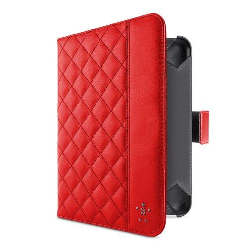 Belkin Gesteppte Schutzhüllemit Ständer (geeignet für Kindle Fire/ Kindle Fire HD) rot