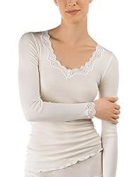 Calida Damen Richesse Lace Unterhemd, Beige (Cream White 892), 46 (Herstellergröße: M=44/46)