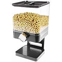 CH Handel Cereal dispenser cereal dispenser cereal dispenser container Schwarz - Einzelspender Eckig