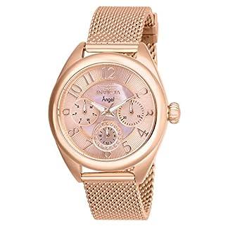 Invicta 27454 Angel Reloj para Mujer acero inoxidable Cuarzo Esfera oro rossa