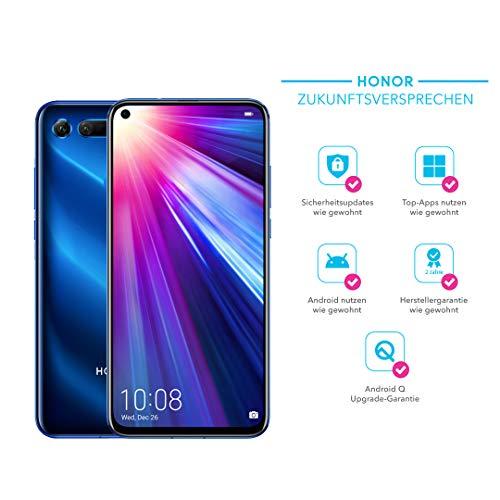 Honor View20 48MP 3D Kamera - 256GB Smartphone Bundle (6,4 Zoll, 4000mAh Akku, Dual-SIM, Android 9.0) + gratis HONOR Protective Cover [Exklusiv bei Amazon] - Deutsche Version, Phantom Blue