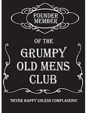 Grumpy Old Mens Club 50s retro Cartel de chapa