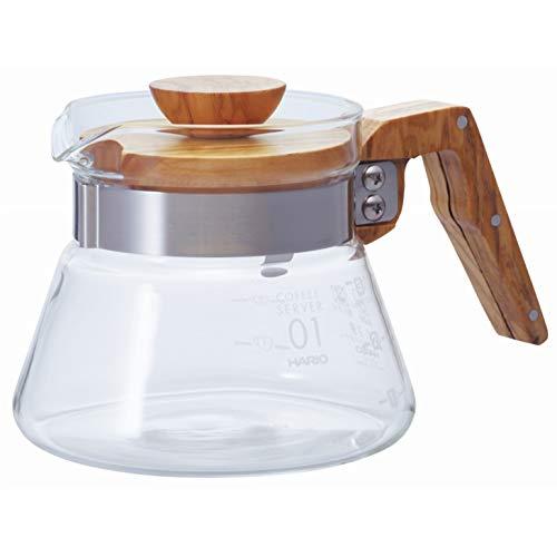 Hario 400 ml Olive Wood neue Kaffee-Server, Transparent -