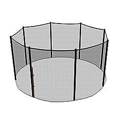 Idea Regalo - Ampel 24, Rete di sicurezza per trampolino con Ø 366cm   Rete di ricambio per trampolino da giardino con 8 pali   Rete esterna   Antistrappo, resistente agli UV