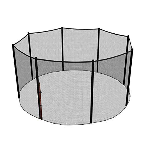Ampel 24 Trampolin Sicherheitsnetz | Ersatznetz 366 cm für 8 Pfosten | UV-beständig | extrem reißfest | Netz außenliegend