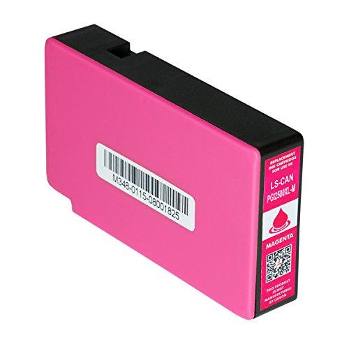Logic-Seek Tintenpatrone kompatibel zu Canon Maxify MB5150 MB5350 MB5450 IB4050 - PGI-2500XL Magenta