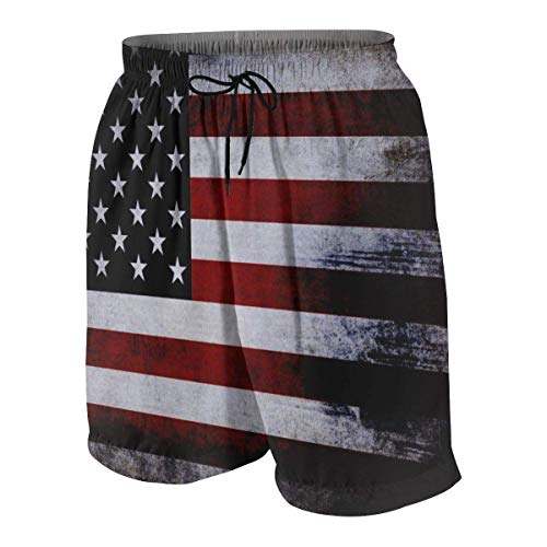 Pillow Socks American Flag Pattern Boys Beach Shorts Quick Dry Beach Swim Trunks Kids Swimsuit Beach Shorts,Active Athletic Performance Shorts M -