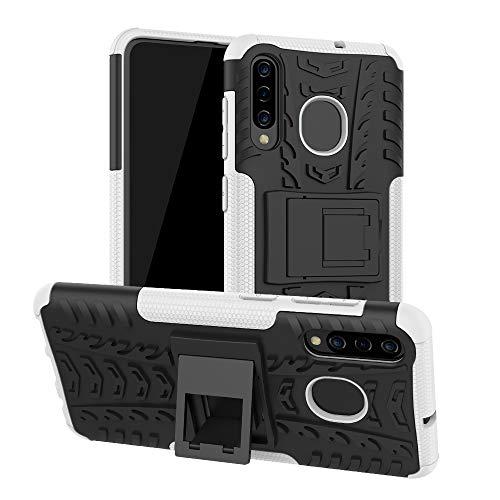 COVO® Samsung Galaxy A50 Hülle Hybrid Armor Schutzhülle Anti Wrestling Travel Essential Faltbare Halterung Schutzabdeckung hüllen für Samsung Galaxy A50(Weiß)