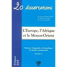 Géodynamique continentale de l'Europe, de l'Afrique, du Proche et du Moyen-Orient
