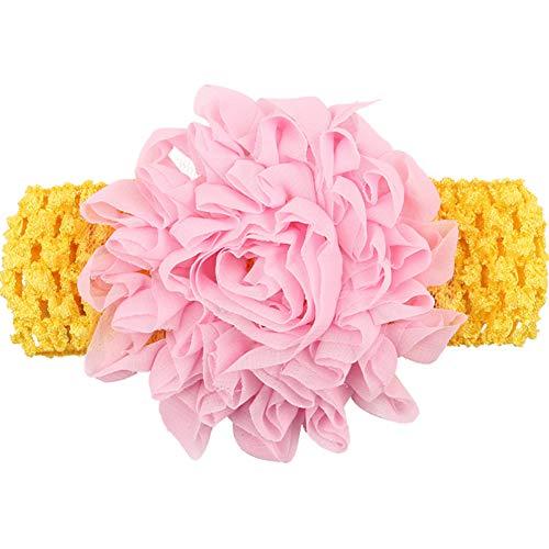 Lovinda Haarband Stirnband Baby Mädchen Knit Stretch süße handgemachte Blume Kopfschmuck Fotografie Requisiten/Cosplay/Halloween Blume(Rose) -