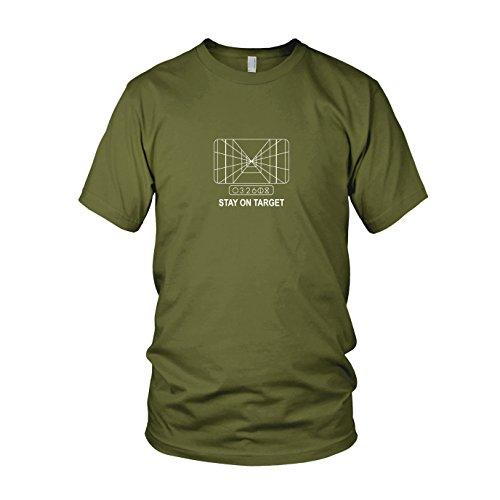 SW: Stay on Target - Herren T-Shirt, Größe: M, Farbe: army (Prinzessin Leia Jabba The Hutt Kostüm)