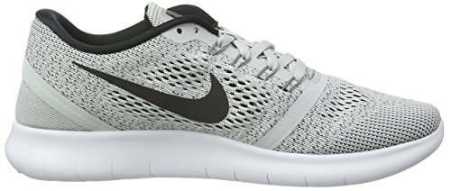 Nike Free Run, Chaussures de Running Compétition Femme Blanc (White/Black/Pure Platinum)