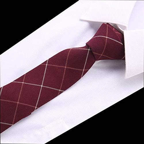 WOXHY 6Cm Cravate De Costume des Hommes Classiques Cravate Maigre Pour Hommes D'Affaires Formelle Bowknots Cravates Coton Cravates Slim CravatT6 (Les Costumes Hommes)