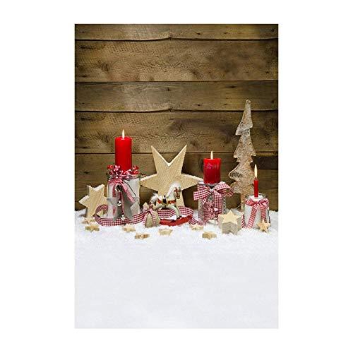 ODJOY-FAN Weihnachten Dekoration Hintergrund, 3D Fotografie Hintergrund 3D Aufkleber Schneemann Hintergründe Photography Background Vinyl Laterne Hintergrund (90x150cm) (D,1 PC)