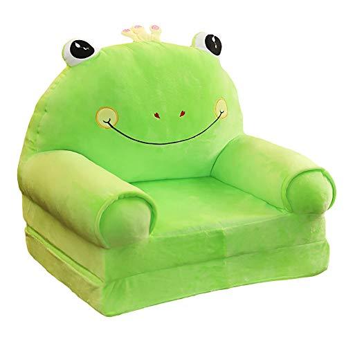 Frosch Bodenkissen (VERCART KinderSessel Sitzpuff Sitzsack Kissen Tier Cartoon Sessel Sitzpuff Baby Kinder Sitzkissen Bodenkissen Horoskop Grüner Frosch 55cm)