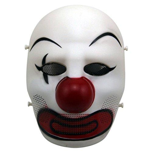 Máscara de Halloween, OutGeek Traje Máscara Ball Joker Máscara Cosplay Máscara de Airsoft para Adultos (Colorido)