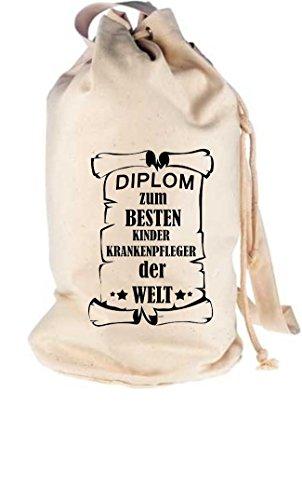 Camiseta stown–Petate Diploma para mejores infantil Enfermeras del Mundo, naturaleza