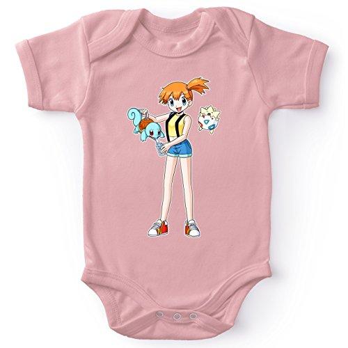 tiges Pink Baby Strampler (Mädchen) - Misty und Togepi und Schiggy (Pokémon Parodie) (Ref:643) ()