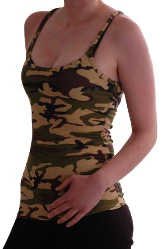 EyeCatch - Jane Racer En Arrière Gilet Armée Style Camouflage Gilet Tops camouflage