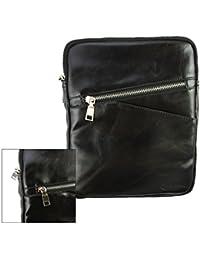 Emartbuy® Negro Crossbody Mensajero Caja Case Cover Viajes Premium PU Cuero con Acolchado Interior y Correa Para Hombro Conveniente Para TBS M710 7 Inch Tablet