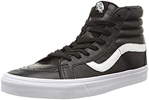 Vans U Sk8-hi Reissue Leather, Unisex Adults' Low-Top Sneakers, Black (premium Leather/black), 7.5 UK (41 EU)