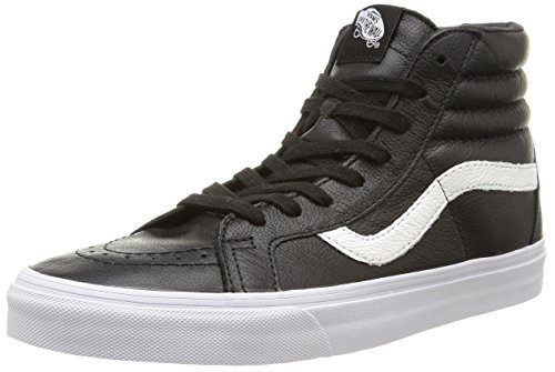 Vans - U Sk8-Hi Reissue Leather, Sneakers unisex, Nero (Premium Leather/Black), 41