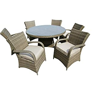 41W4ICNoMJL. SS300  - LIAN Home Combination Rattan Garden Set Rectangular Dining Table And Chairs Outdoor Furniture