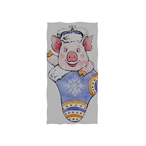 Piggy Pig Socke Geschenk weichen Spa Strand Badetuch Fingertip Handtuch Waschlappen für Baby Erwachsene Bad Strand Dusche Wrap Hotel Travel Gym Sport 30 x 15 Zoll (Erwachsene Blau Yacht Hut)