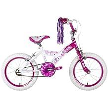"""Sonic Glamour - Bicicleta para niña, tamaño 16"""", color blanco / rosa"""