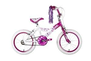 Sonic Glamour Girls Bike - White/Pink, 16 Inch