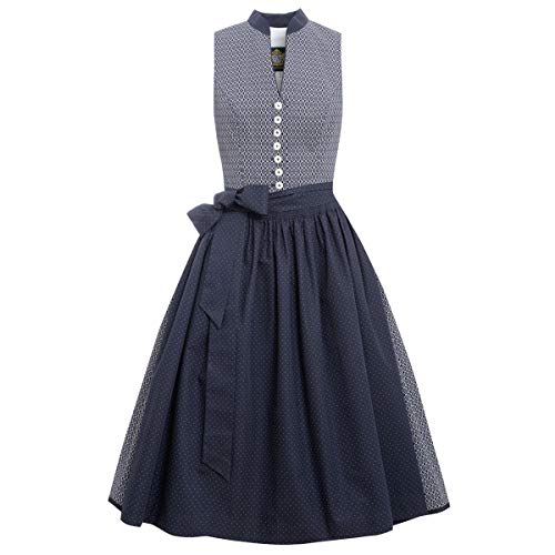 Hammerschmid Damen Trachten-Mode Midi Dirndl Atlmühlsee in Blau Traditionell