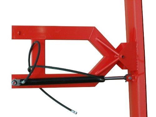 Hydraulisches Schneeschild - Räumschild für Gabelstapler / Schild-Breite: 100 cm / Schild-Höhe: 40 cm / Lieferung inklusive: Schwenkzylinder + Anschlussventil + Hydraulik-Schläuche / Witterungs-beständig pulver-beschichtet