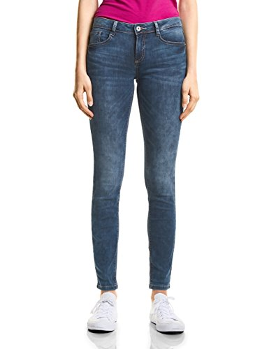 Street One Damen Slim Jeans A371524, Blau (Blue Acid Wash 11477), W28/L30 (Herstellergröße: 28)