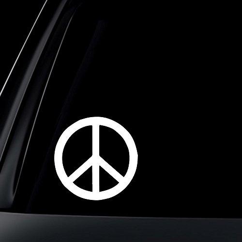 SUPERSTICKI® Peace Zeichen 10 cm Aufkleber Autoaufkleber Sticker Tuning Vinyl UV& Waschanlagenfest Tuningsticker