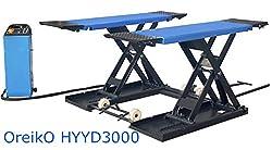 OreikO HYCD3000M-EL Profi Mobile Scherenhebebühne Reifendienst - 220V - 3000kg - CE