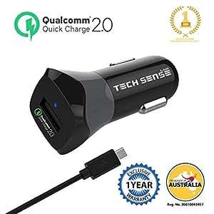 Tech Sense Lab Quick Charge 2.0 Car Charger