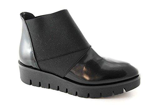 Pregunta 56504 Negras Mulheres Botas Nero Elástico Sapatos rr7AqFwg