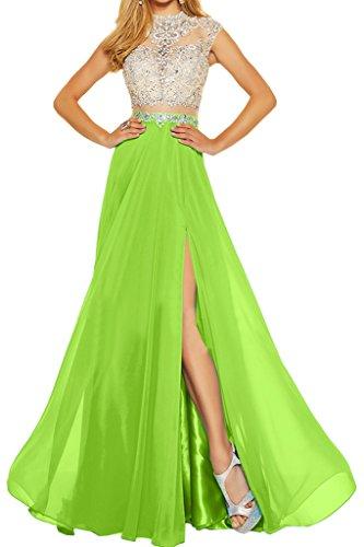 ivyd ressing robe robe deux partie mousseline et pierres tuell A ligne Party Prom Lave-vaisselle robe robe du soir Jaegergruen