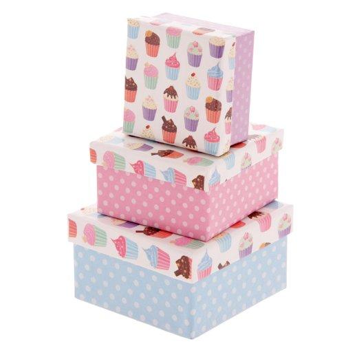 set-von-3-cutesy-cupcake-design-quadratische-papierschachteln
